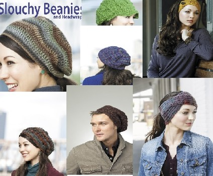 Learn how to crochet slouchy beanies and headwraps