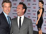 Timothy Olyphant and Walter Goggins arrive  to FX's Justified Season 5 Premiere held at the Directors Guild of America