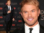 Hunky Kellan Lutz trades in his armor for a traditional black suit for the New York premiere of The Legend of Hercules