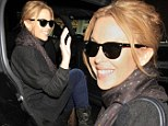 Fresh as a daisy! Effervescent new Voice judge Kylie Minogue radiates in minimal makeup as she touches down at LAX after long flight from the UK
