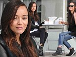 She's a long way from Camden! Ashley Madekwe has a very Hollywood lunch date with Cara Santana