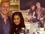 'It's shower time': Bachelor's Sean Lowe and Catherine Giudici look in love at couples celebration three weeks before big wedding
