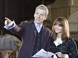 'I¿m emerging from the TARDIS into a whole other world': Peter Capaldi is pictured with Jenna Coleman during first full day filming on Doctor Who set