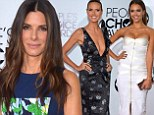 Winning ways! Sandra Bullock plays it safe in high necked gown as Heidi Klum and Jessica Alba show off their curvy figures on the People's Choice Awards red carpet
