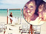 Has Lara Bingle tied the knot with Sam Worthington? Friend sparks wedding rumours as she posts photo of bikini-clad model standing at the altar