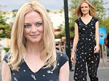 Statuesque blonde: Heather Graham looked like she was born to wear a jumpsuit as she headed to the set of Extra, for an appearance on the show hosted by Mario Lopez, in Los Angeles on Tuesday