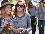 Double act! Rumer and Scout Willis can't stop giggling as they head to a pamper session in matching outfits