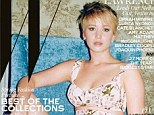 Cover girl! Jennifer Lawrence wears a high-waisted 50-style print bikini on W magazine's special movie issue