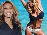 Bikini girl Wendy Williams shows off her taut stomach... and the tattoo she got to cover tummy tuck scar