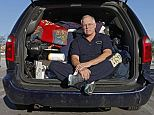 Frustration: Despite having a wealth of military experience and three graduate degrees, Colonel Robert Freniere is currently living in his van with all of his possessions in King of Prussia, Pennsylvania