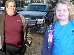 Honey Boo Boo and family emerge for the first time since their family car was wrecked in horrific crash... to visit police station