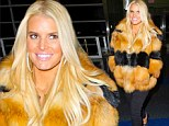 Be-hive yourself! Jessica Simpson creates a buzz after arriving at airport in bumblebee jacket