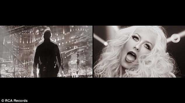 Comic book feel: The video features the stars performing in different locations but are spliced to together like comic book cells