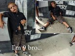 'And I smoke weed': Disturbing footage emerges of drunk and abusive 9-year-old on a scooter claiming to have downed EIGHTEEN cans of 7% whisky and cola