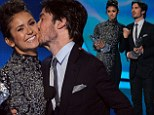 Fan favourites: Nina Dobrev and Ian Somerhalder accepted the People's Choice Awards for Favourite On-Screen Chemistry on Wednesday after breaking up in real life last May