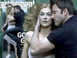 She's cold as ice! Ben Affleck cuddles up to dead wife Rosamund Pike in Gone Girl for Entertainment Weekly cover photo