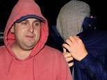 The man without a face! Leonardo DiCaprio hides under his flat cap as he goes on dinner date with Jonah Hill in London