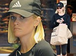 Stocking her wardrobe: Reese Witherspoon was seen shopping for athletic wear at Frontrunners in Brentwood on Wednesday