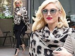 Teetering along: Gwen Stefani wore sky-high stiletto heels on Tuesday to a nail salon in West Hollywood, California