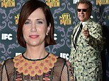 Kristen Wiig dons flashy dress while Will Ferrell recycles his favourite money suit at premiere for irreverent miniseries Spoils Of Babylon