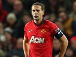 Exit: Rio Ferdinand could be on his way out of Manchester United at the end of the season