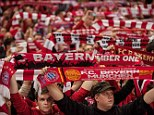 Thank you: Bayern Munich are to subsidise the cost of tickets for the away Champions League tie at Arsenal to say 'thanks' for fans' support in a record-breaking 2013