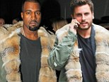 Fashion bromance: Scott Disick dons the same $3K Ermanno Scervino fur coat as Kanye West in New York