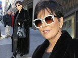 Are you fur real? Kris Jenner wears trendy white sunglasses with classic black coat as she exits the Today Show in New York
