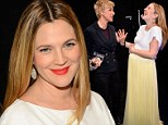 'Ellen DeGeneres told me I was fat!' Drew Barrymore jokes about her pregnant figure as she covers up in yellow and white at People's Choice Awards