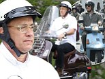 The return of Larry Crowne! Tom Hanks feels the need for speed as he zooms around on a scooter