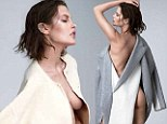 You can leave your coat on! Aussie supermodel Catherine McNeil goes nude under an array of chic wool jackets for racy new fashion shoot