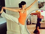 Is there anything she can't do? Hilaria Baldwin dusts while holding rigid yoga pose... and then stands on her head