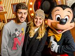 Surprise! Perrie Edwards whisked boyfriend Zayn Malik to Disneyland Paris earlier this week to mark his 21st birthday