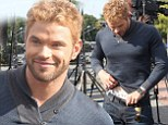 Forget the loin cloth! Hercules star Kellan Lutz flashes his underwear to prove what gladiators really wear under their kilts