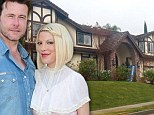 Movin' on... down: Tori Spelling rents smaller house as she uproots family of six for THIRD time in two years