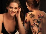 Kristen Stewart goes topless and cracks a rare smile in behind-the-scenes video of her Balenciaga Rosabotanica advert
