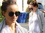 Pregnant Olivia Wilde treats her growing baby bump to a hearty vegan lunch at Hugo's