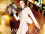 Defying gravity: Nicole Kidman appears in Jimmy Choo's Spring Summer 2014 campaign and has stripped off for this shot