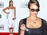 Jessica Alba dons ultra-sheer top at office before vamping it up in sexy Jason Wu frock at the People's Choice Awards