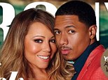 Red hot: Mariah Carey and Nick Cannon cosy up for magazine cover as he cites spirituality as the key to happy marriage