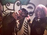 Unlikely pair: Kelly Osbourne posted an image of her and Justin Bieber doing graffiti on Wednesday on the same day she announced her split from fiance Matthew Mosshart