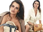 Covering up: Penelope Cruz used just a leather bag to cover herself in a new campaign for the Loewe brand of luxury accessories