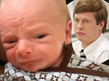 New addition: Workaholics star Anders Holm shared a video of his new baby boy on Monday with a funny crying voice-over