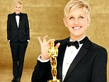 It suits her! Ellen Degeneres gets all decked out in spiffy tuxedo for Oscars hosting gig in new promo photos