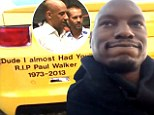 Tyrese Gibson almost breaks down over Paul Walker tribute in Dubai while Vin Diesel shares lengthy video portraying his off-screen bromance with the tragic star