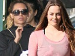 Spicing up their exercise regimes! Mel B and Alicia Silverstone leave the same bootcamp class after a high-octane workout
