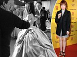 Transformation: Carly Rae Jepsen posted this photo to her Instagram and Twitter accounts on Tuesday night, of her trying on Cinderella's wedding dress for her role in Rodgers & Hammerstein's Cinderella