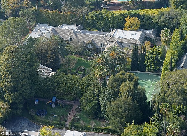 Room with a view: The Madonna manse has nine-bedrooms plus rooms for live-in help