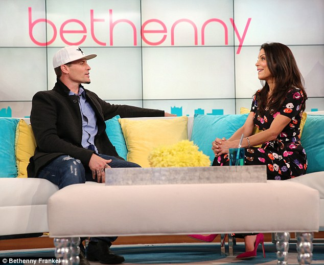 On the couch: Bethenny Frankel, seen here with Vanilla Ice on October 17, has been accused of being 'cold' on her talk show, according to a Thursday report