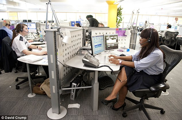 Emergency: 999 call handlers will also strike today, a move which could put revellers at risk. File picture